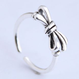 Fashion Vintage Bow Personality Open Ring NHSC206213's discount tags