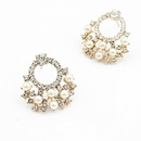 Korean Flash Diamond Simple Circle Earrings NHSC206235
