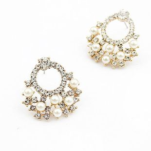 Korean Flash Diamond Simple Circle Earrings NHSC206235's discount tags