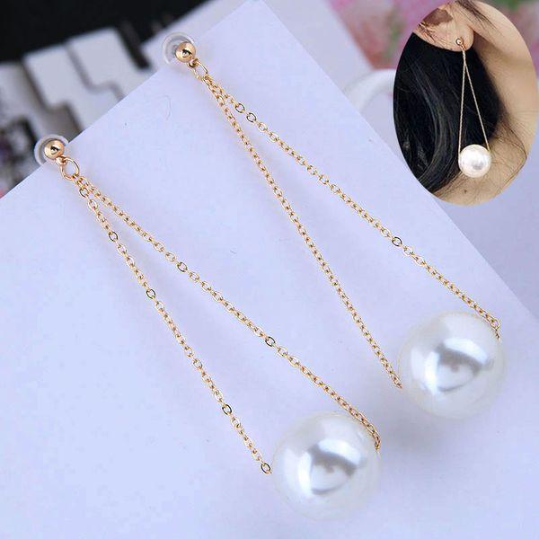 Korean fashion sweet and elegant pearl earrings NHSC206234