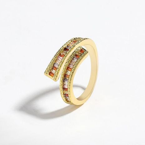 New fashion copper micro inlaid color zircon couple ring wholesale NHJE205948's discount tags
