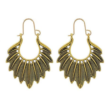 Boho Vintage Leaf Earrings NHGY205967's discount tags