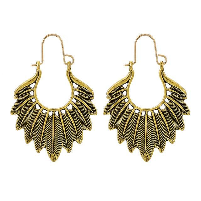 Boho Vintage Leaf Earrings NHGY205967