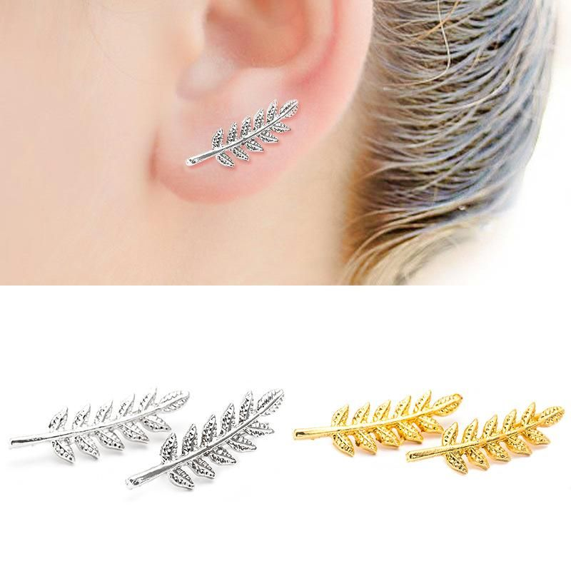 New fashion simple leaf shaped leaf shaped ear bone clip women wholesale NHDP205998