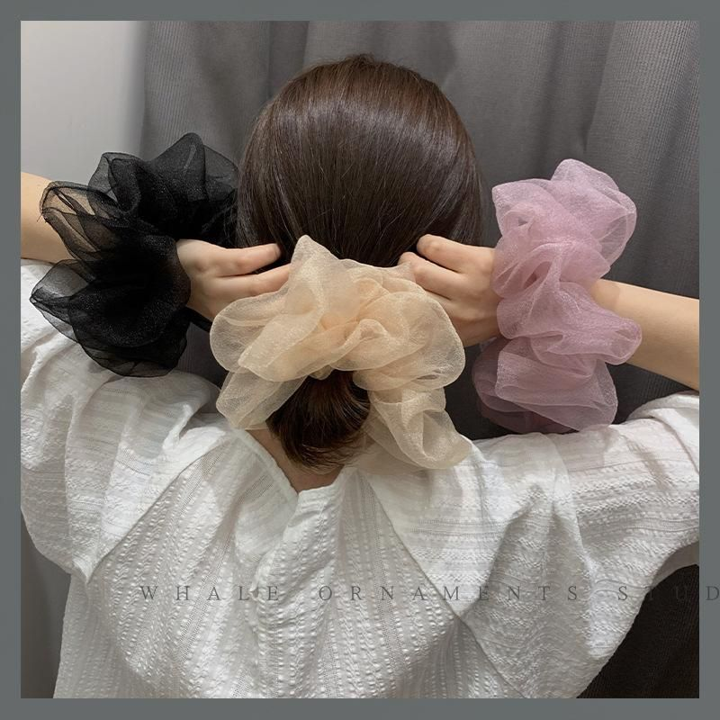 Sweet Super Fairy Crystal Yarn Hair Circle Oversized Korean Gentle Headband Cheap Scrunchies Wholesale NHOF206016