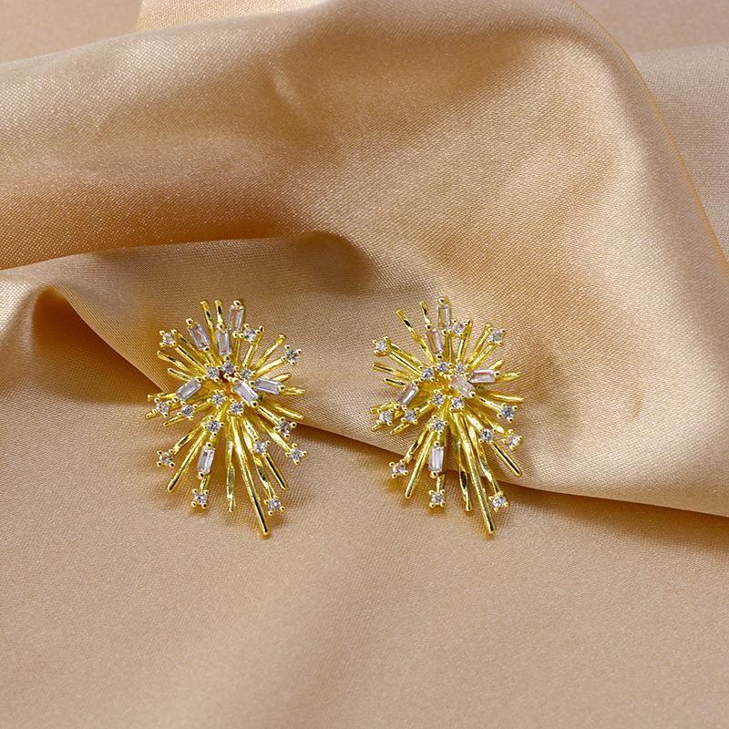 Firework blasting zircon micro-set earrings new tide earrings women NHNT206021