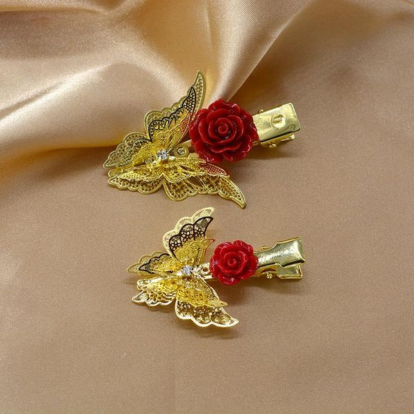 Korean new fashion simple butterfly metal cheap card wholesale NHNT206025