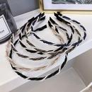 Korean new simple hair accessories pearl winding wave thin edge cheap headband wholesale NHSM206039