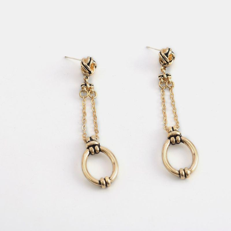 New exaggerated earrings S925 silver needle popular retro long wild earrings wholesale NHQS206071