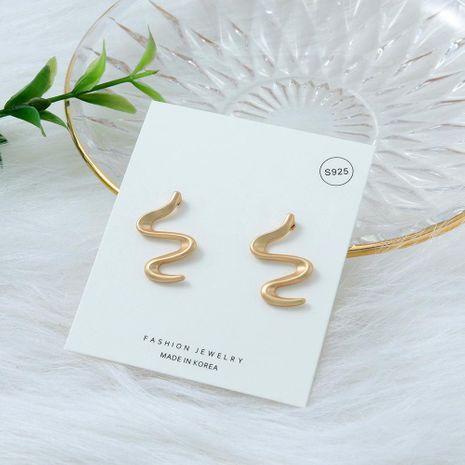 New Earrings Korea Simple S925 Silver Needle Snake Ear Studs Fashion Alloy Ear Studs NHQS206072's discount tags