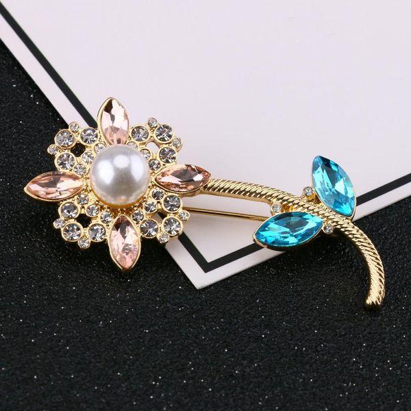 New Fashion Mini Brooch with Diamonds Fashion Jewelry Brooch Wholesale NHQS206076
