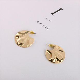 New pattern metal plate earrings simple fashion earrings wholesale NHQS206080's discount tags