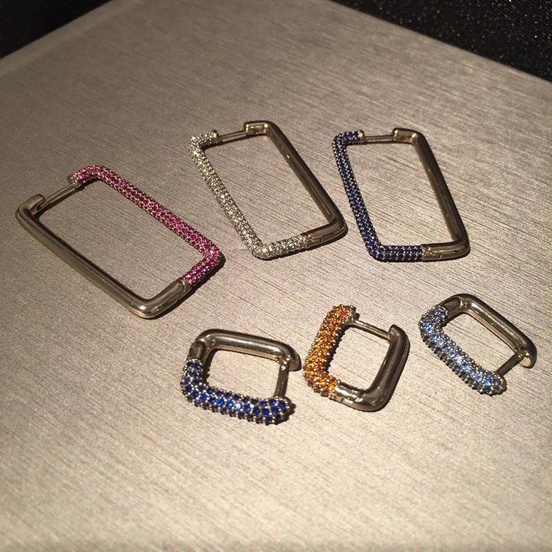 Rectangular Geometric Earrings NHWK206106