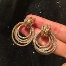 Hoop earrings multilayer hoop earrings S925 silver pin earrings NHWK206114