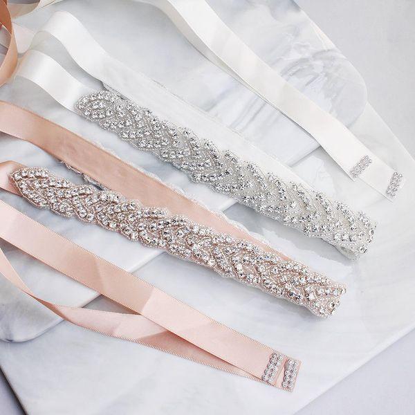 Bridal Waist Seal Hand Sewn Crystal Wedding Dress Rhinestone Belt Wholesale NHHS206149
