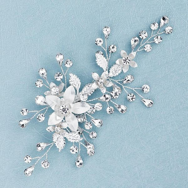 Korean simple headdress handmade flowers edge clip bride wedding hairpin ancient style Hanfu with jewelry NHHS206152