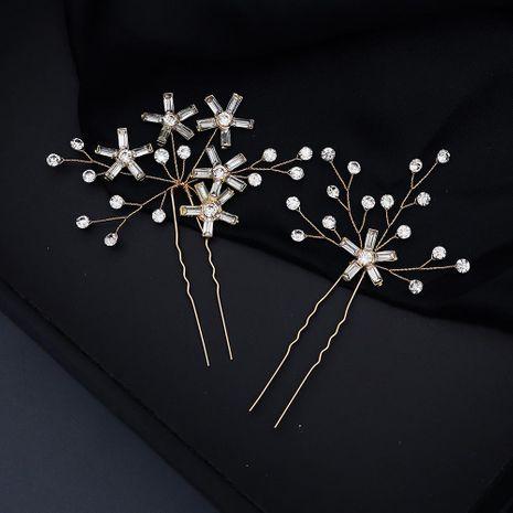 Simple Star Bun Set Geometric Glass Rhinestone Bridal Wedding Accessories NHHS206153's discount tags