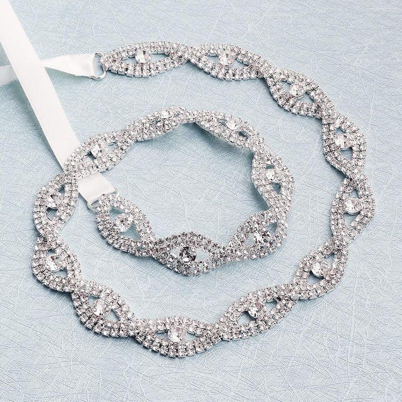 Bridal Jewelry Luxury Diamond Cross Knitted Belt Beautiful Hollow Waist Chain Wholesale NHHS206157