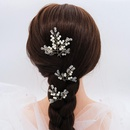 Korean simple bridal jewelry handmade pearl Ushaped wedding hair accessories set NHHS206158