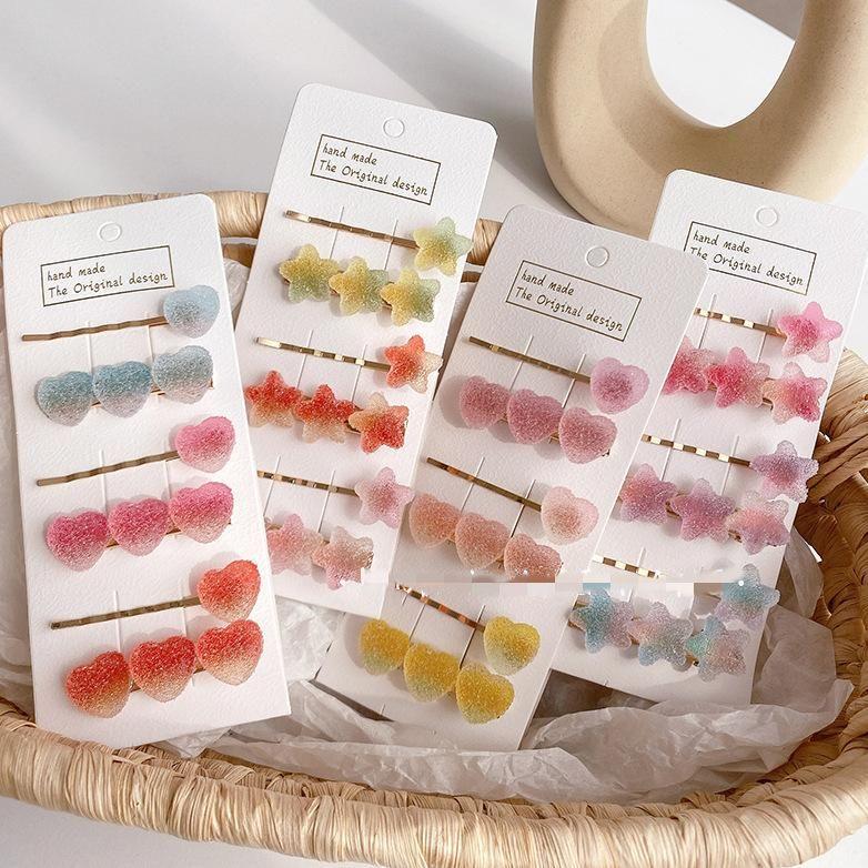 2 sticks new dreamy girl fudge cute cheap side clip wholesale NHOF206013
