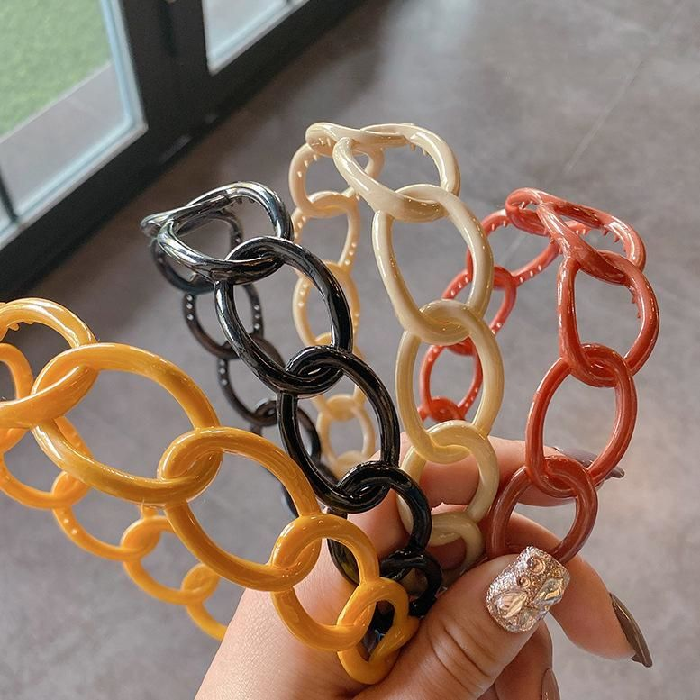 New fashion Korean sweet colorful chain cheap headband wholesale NHOF206006