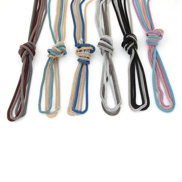 Yiwu jewelry wholesale Korean fashion simple three-piece round snake chain wild sweater chain NHSC206055