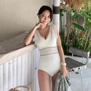 New onepiece female sense vneck underwire ruffled hollow triangle swimsuit NHHL199968
