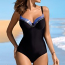 Ladies Underwear Gathered New Triangle OnePiece Swimsuit Colorblock Swimsuit Wholesale NHHL199971