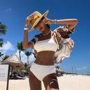 New sexy female hot spring split bikini swimsuit NHHL199975