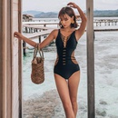 New fashionable black backless sexy triangle onepiece swimsuit women NHHL199980