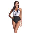 New medium and large size swimwear polka dot print leaf print bikini women wholesales fashion NHHL199990