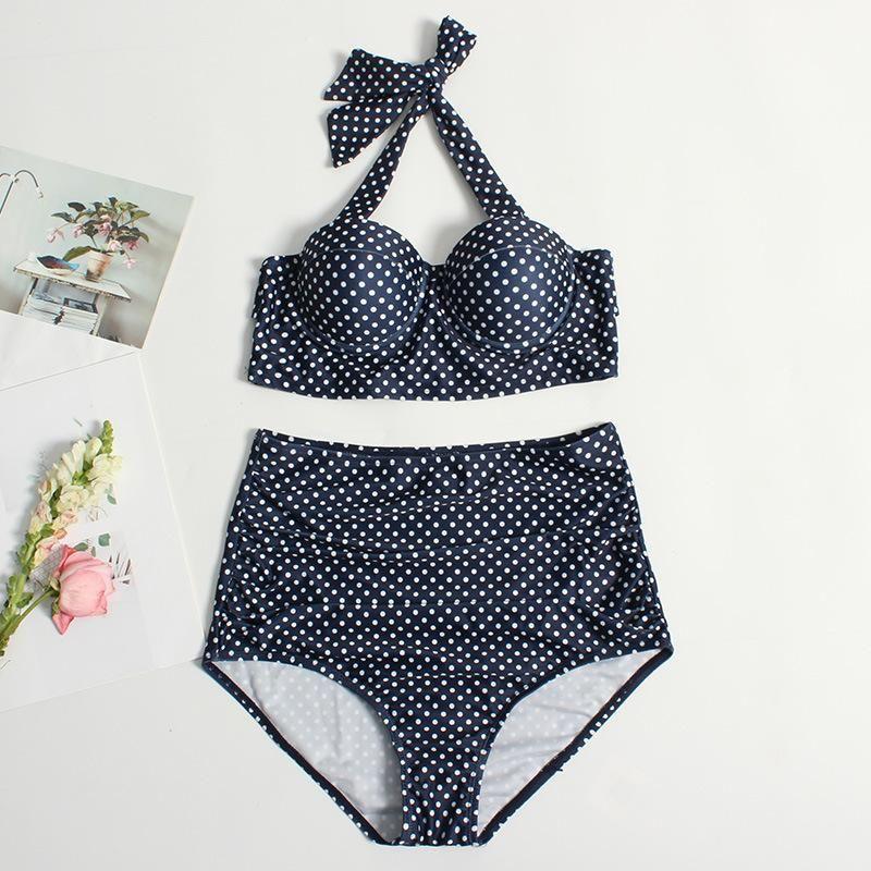 New bikini wave dot print wave dot colori bikini swimwear for women wholesales fahsion NHHL199993