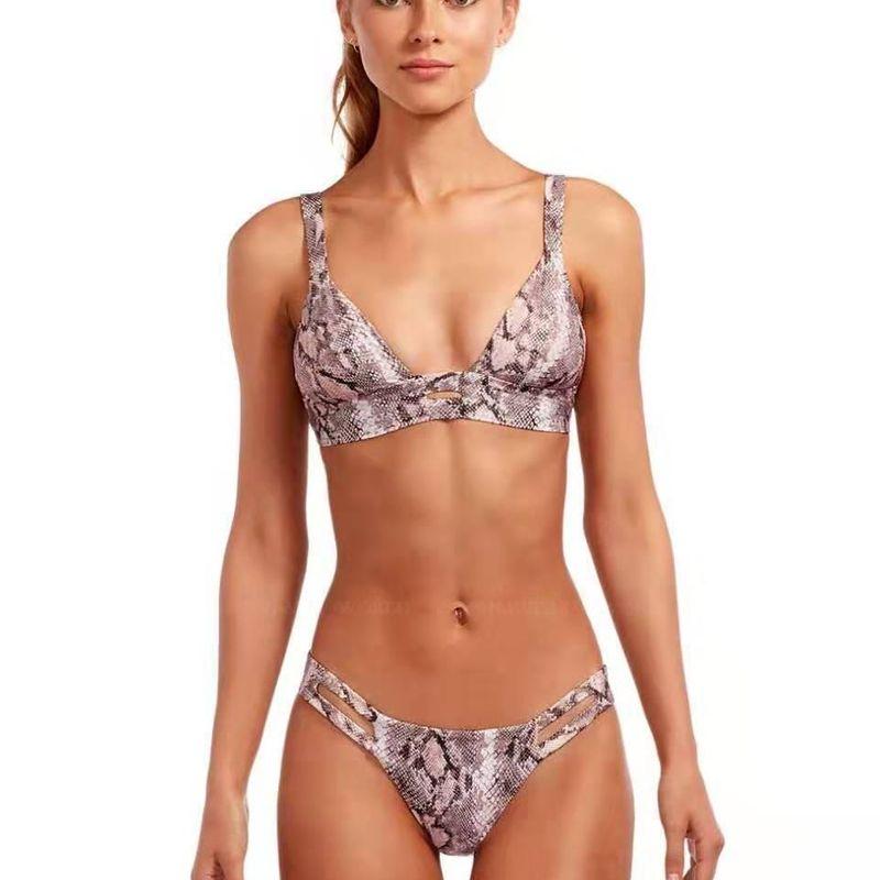 New bikini explosions women's swimwear snake pattern split swimsuit swim NHHL200009