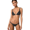 New swimsuit female solid color nylon bikini burst sexy multicolor split swimsuit NHHL200014