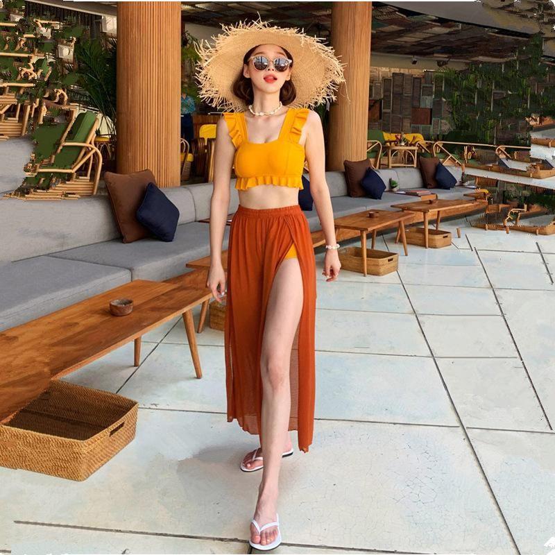 New sexy fashion split triangle swimsuit women three-piece NHHL200042