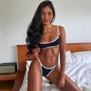 New whiterimmed solid color bikini sexy swimsuit women explosion models ladies swimwear NHHL200047