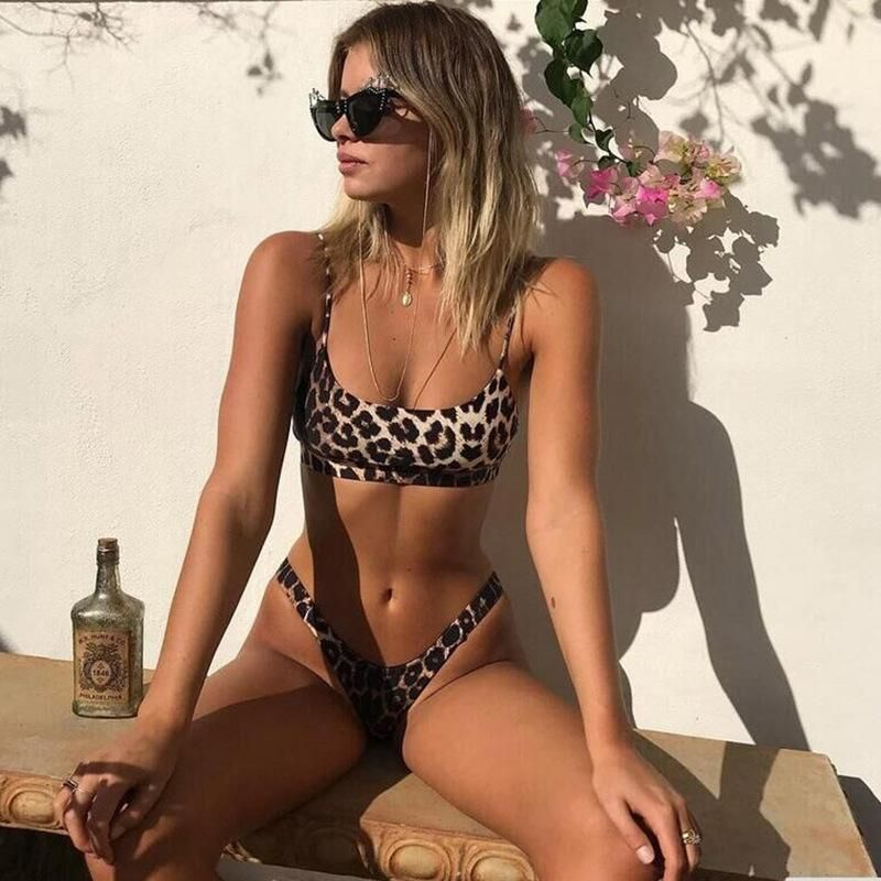 Fashion women's bikini explosions ladies leopard snakeskin swimwear wholesale NHHL200057