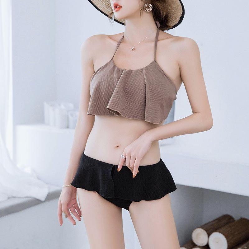 Fashion women's bikini new fashion sexy triangle split swimsuit NHHL200066