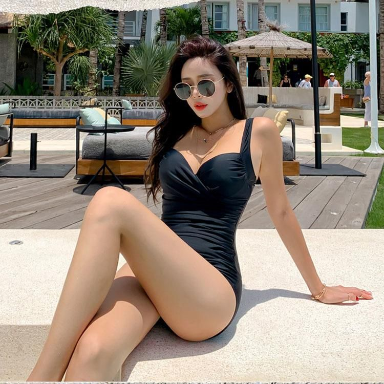 Hot spring season new fashion sexy conservative slim ladies triangle one-piece swimsuit wholesales fashion NHHL200071