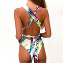 New onepiece swimsuit long strap print onepiece swimsuit wholesales fashion NHHL200078