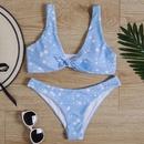 New hot sale star print ladies split bikini swimsuit women swimwear bikini NHHL200079