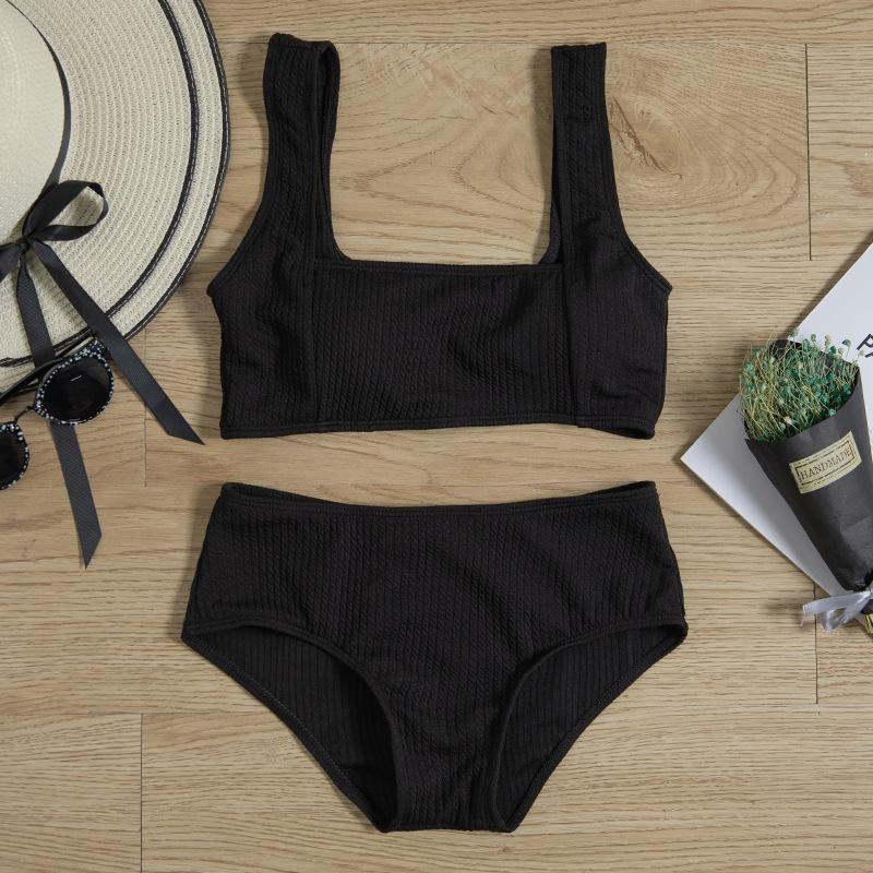 New split tube tops tight fashion was thin swimwear high waist cover belly bikini NHHL200081