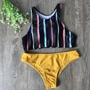 Fashion womens bikini new ladies split stripe stripe bikini swimwear NHHL200082