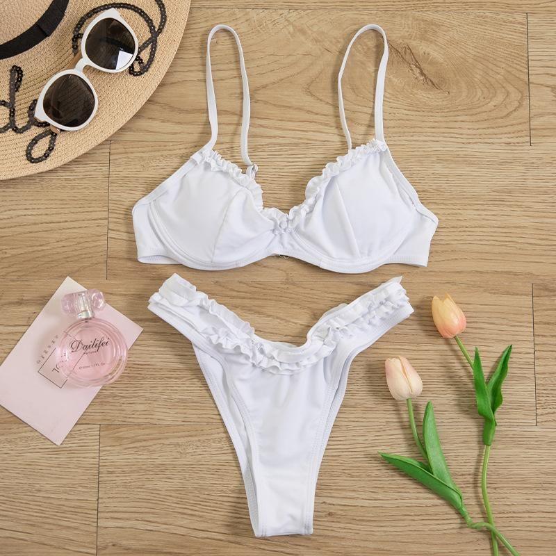 New split triangle tight bikini sexy little flashing fashion swimwear women NHHL200084