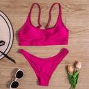 New swimwear European and American womens sexy split color bikini briefs swimwear NHHL200092
