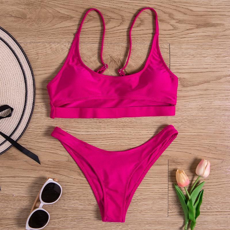 New swimwear European and American women's sexy split color bikini briefs swimwear NHHL200092