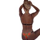 New split swimwear women explosion models printed bikini ladies sexy split swimwear NHHL200106