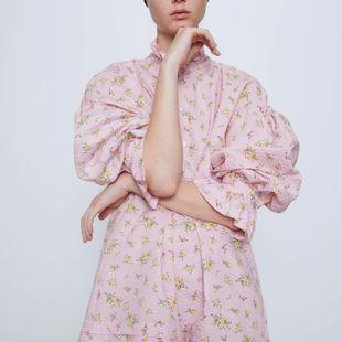 Fashion women's dress wholesale printed shirt long sleeve dress NHAM200113's discount tags