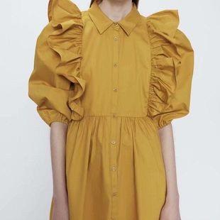Fashion Spring Laminated Decorative Loose Doll Dress Wholesale NHAM200121's discount tags