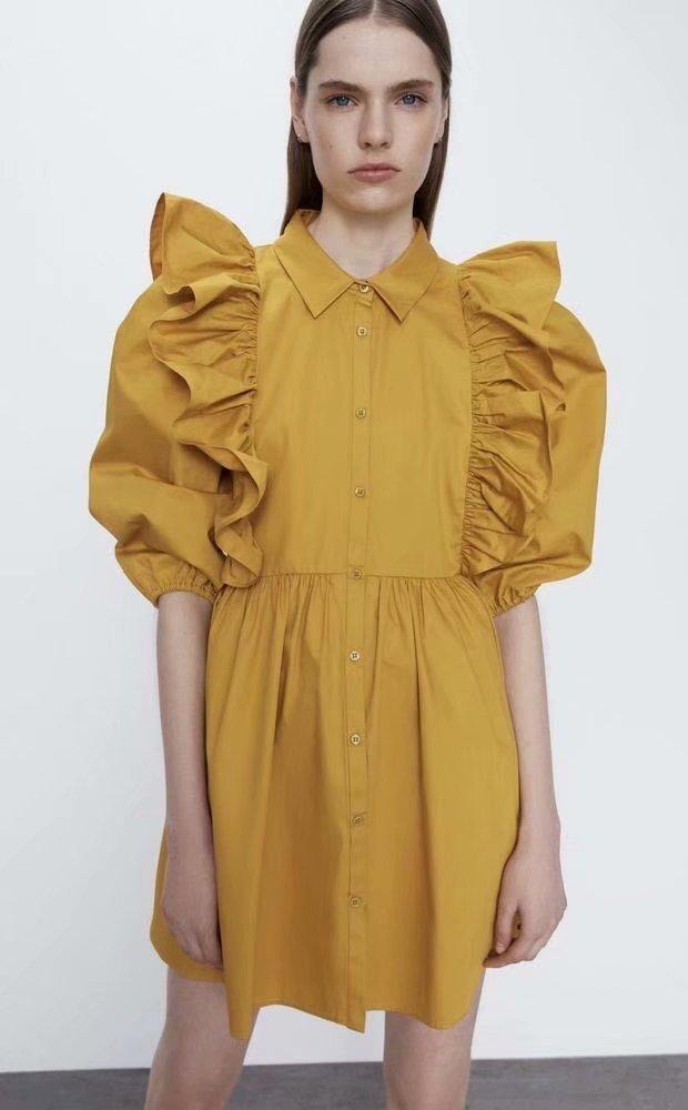 Fashion Spring Laminated Decorative Loose Doll Dress Wholesale NHAM200121